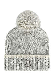 MONCLER Knitted pom pom hat