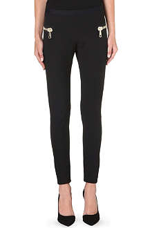 MONCLER Zip-detail leggings