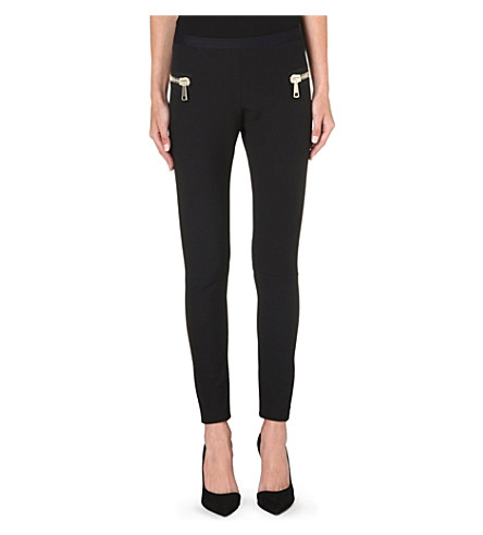 MONCLER Zip-detail leggings (Black