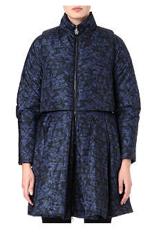 MONCLER Printed flared coat
