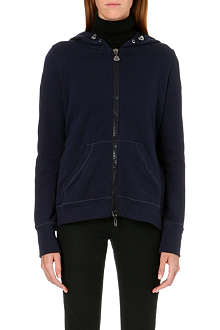 MONCLER Pleated-back zip-through hoody
