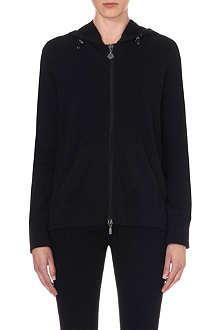 MONCLER Pleat back hoodie cardigan