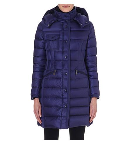 MONCLER Quilted Hermine coat (Violet
