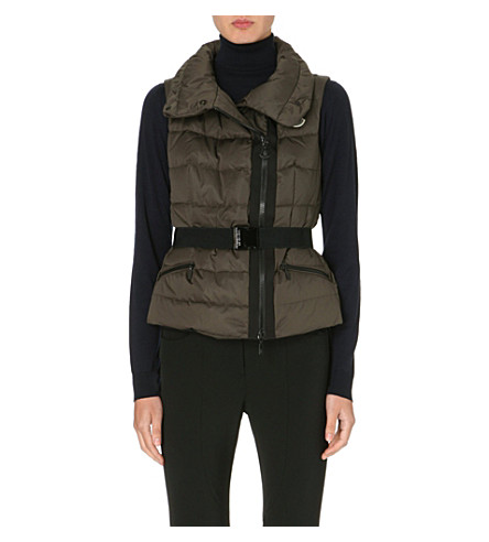 MONCLER Classic quilted gilet (Olive