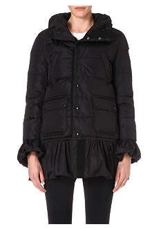 MONCLER Frill-trimmed quilted jacket