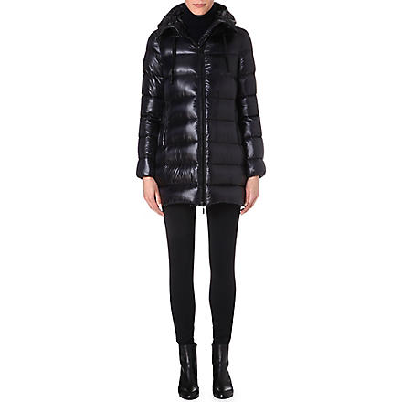 MONCLER Hooded quilted coat (Black