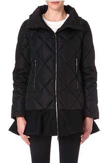 MONCLER Vouglan peplum-waist padded jacket