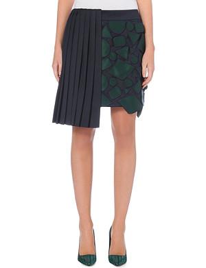 MARY KATRANTZOU Pleated geometric skirt