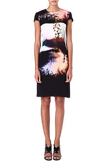 MARY KATRANTZOU Woodstock sunset-print silk-jersey dress