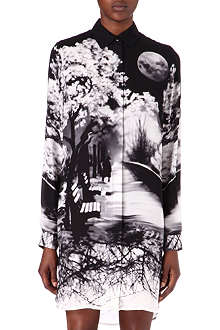 MARY KATRANTZOU Misty Maria-print shirt dress