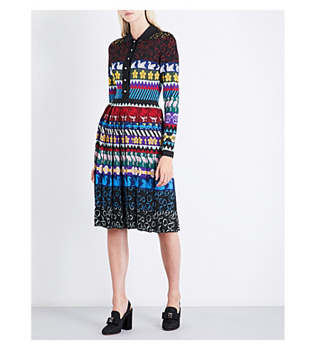 MARY KATRANTZOU Cecile knitted dress (Multi
