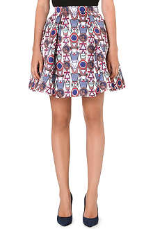 MARY KATRANTZOU Flared twill skirt