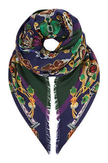MARY KATRANTZOU Jewel print scarf