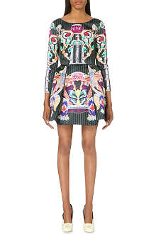 MARY KATRANTZOU Copa printed satin dress