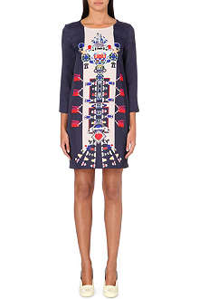 MARY KATRANTZOU Elio TV-print satin dress