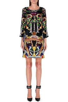 MARY KATRANTZOU Elio butterfly-print velvet dress