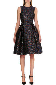 MARY KATRANTZOU A-line structured brocade dress