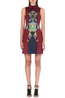MARY KATRANTZOU Digital-print cotton and silk dress