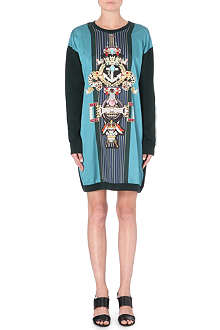 MARY KATRANTZOU Racer-stripe sweatshirt dress