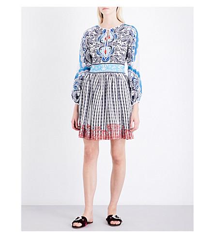 MARY KATRANTZOU Lucie silk mini dress (Back+of+cards+blue