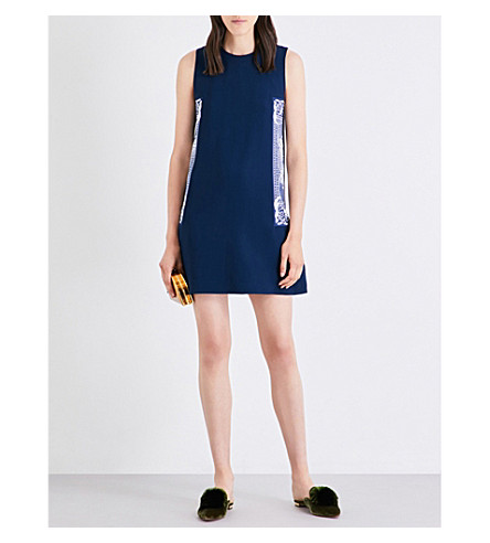 MARY KATRANTZOU Sandra crepe dress (Navy