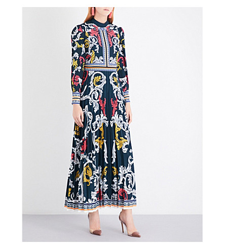 MARY KATRANTZOU Mizar crepe gown (Queens+teal