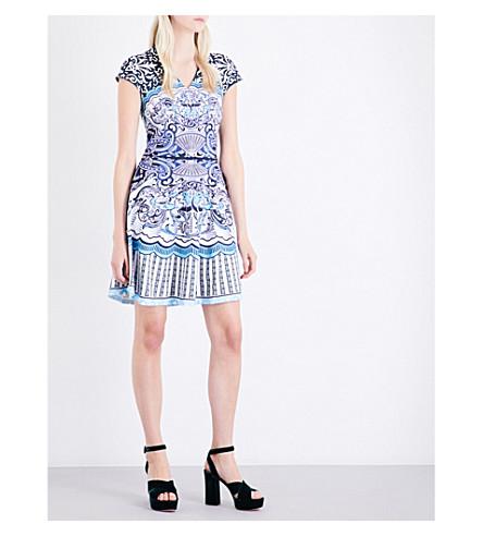 MARY KATRANTZOU Pinto stretch-jersey mini dress (Back+of+cards+blue