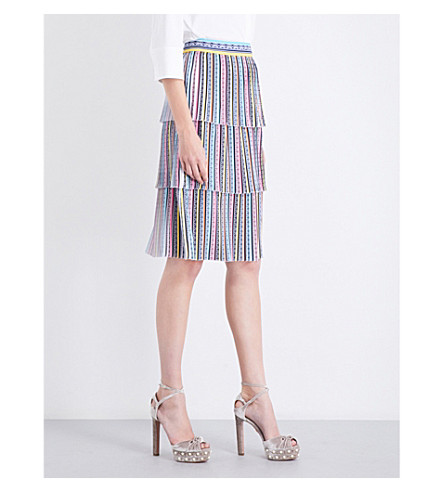 MARY KATRANTZOU Baccarat high-rise crepe skirt (Dragon+multi