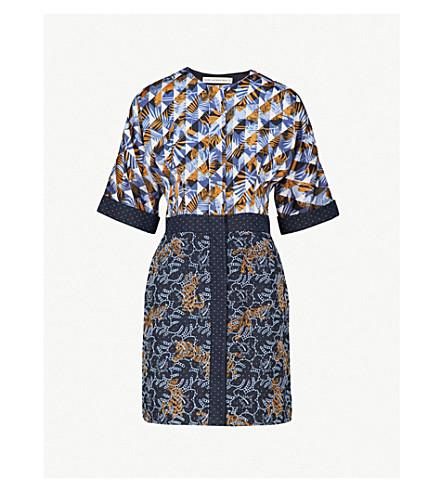MARY KATRANTZOU Printed crepe mini dress (Indigo