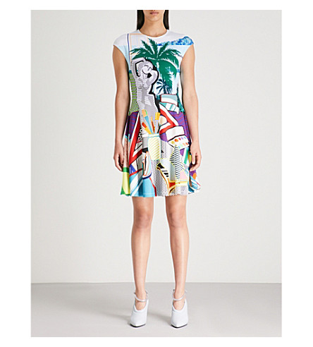 MARY KATRANTZOU Pop art-print crepe dress (Pop+art