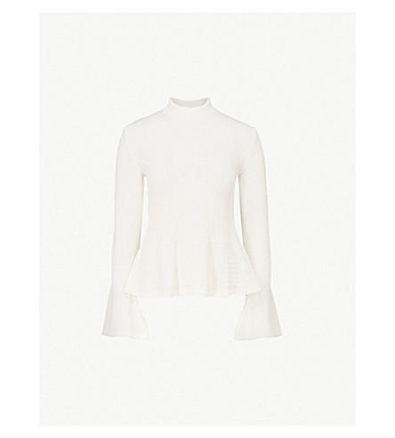 MARY KATRANTZOUPeplum 羊毛毛衣 (白色