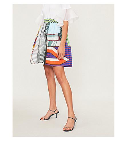 MARY KATRANTZOU Puffed pop art-print seersucker mini skirt (Pop+art
