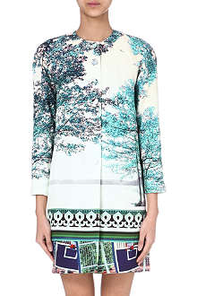 MARY KATRANTZOU Sarbour Blush collarless coat