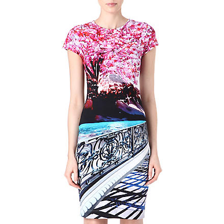 MARY KATRANTZOU Blossom-print stretch-jersey dress (Multi