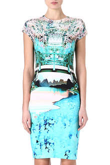 MARY KATRANTZOU Caspian printed stretch-jersey dress