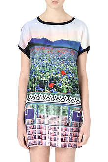 MARY KATRANTZOU Printed silk-blend dress
