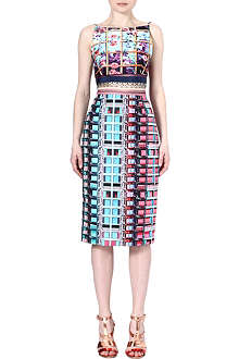 MARY KATRANTZOU Jersey and silk dress