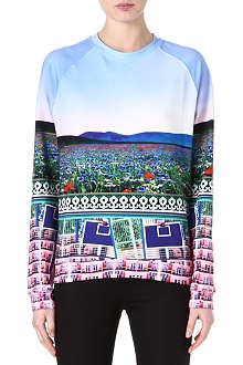MARY KATRANTZOU Effloresence cotton-blend sweatshirt