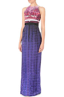 MARY KATRANTZOU Printed silk gown