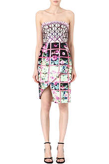 MARY KATRANTZOU Woody bustier petal-skirt dress