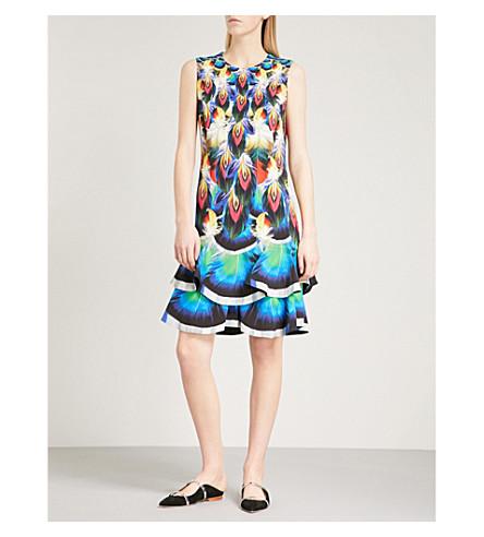 MARY KATRANTZOU Sandra sleeveless fit-and-flare crepe dress (Peacock+feathers