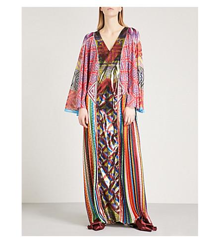 MARY KATRANTZOU Lapwing silk and woven maxi dress (Patchwork