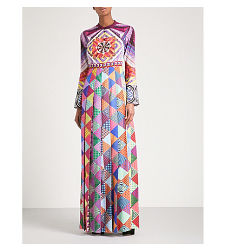 MARY KATRANTZOU Desmine digital-print silk maxi dress (Folk