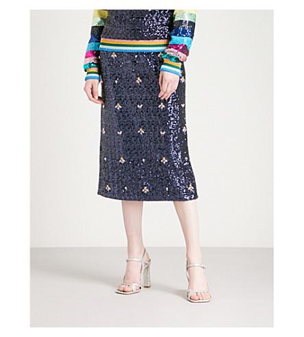 玛丽 KATRANTZOU 西格玛 sequinned 裙子 (海军