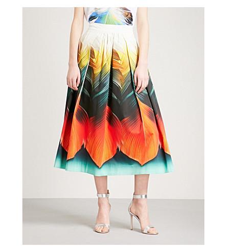 MARY KATRANTZOU Bowles stretch-cotton midi skirt (Flight+feather