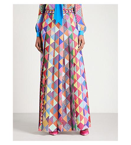 MARY KATRANTZOU Nyx high-rise crepe maxi skirt (Folk