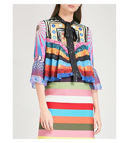 MARY KATRANTZOU Milana silk-georgette blouse (Sequin+stripes