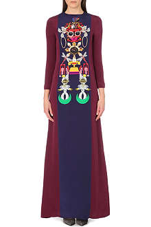 MARY KATRANTZOU Digital print silk maxi dress
