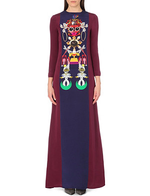 MARY KATRANTZOU Digital print silk maxi dress