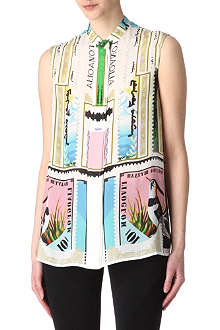 MARY KATRANTZOU Sorbonne sleeveless blouse